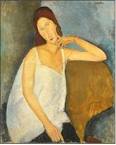 Jeanne H�buterne, 1919, oil on canvas, courtesy the Metropolitan Museum of Art